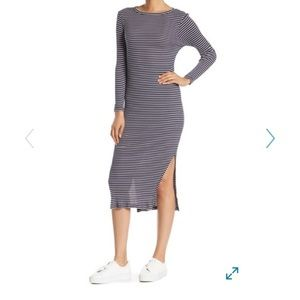 NWT French Connection dress - striped ribbed knit